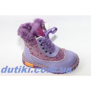 Зимние ботинки для девочек из натур.кожи и замши Арт: А27-4