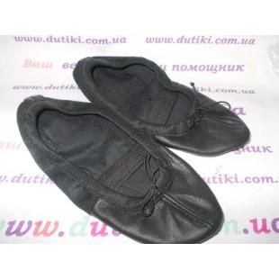 """Балетки кожаные черные """"Премиум"""" из кожи и текстиля 0719чер"""
