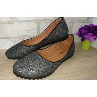 Туфли из натуральной кожи с перфорацией Bellini - последняя пара!