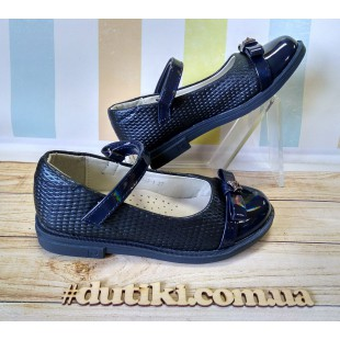 Школьные туфли для девочек Арт: 29001B blue