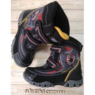Зимние термо ботинки, Super Gear В206 black-grey