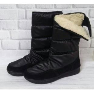 Зимние сапожки-дутики, утепленные полушерстью Арт: ЕК-432