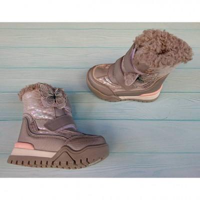 Зимние термо ботинки, ТОМ.М H-5767 silver