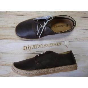 Кожаные туфли для подростков Inblu SG-5T brown