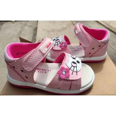 Босоножки для девочек American Club, 0222 pink