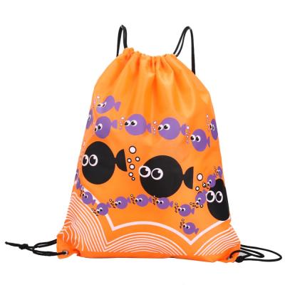 Сумочка-мешочек оранжевая