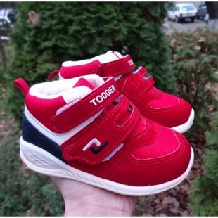 Яркие ботинки для маленьких мальчиков и девочек Арт: 31-04003M red
