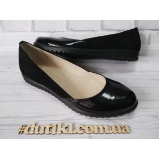 Женские туфли из натуральной кожи и замши Арт: Мatino
