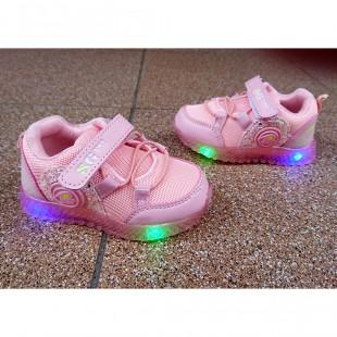 Кроссовки для девочек с мигающей подошвой Арт: H3252-3