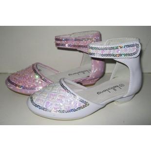 """Нарядные туфли для девочек """"Princess"""" - белые"""