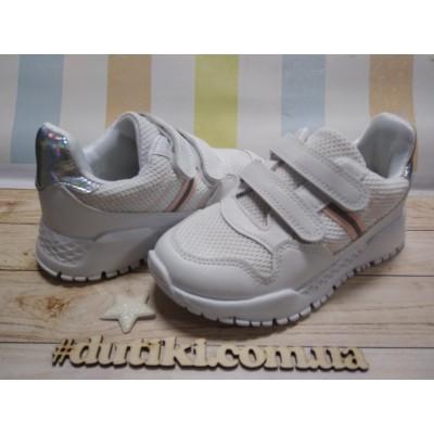 Кроссовки белые для девочек, С91107 white