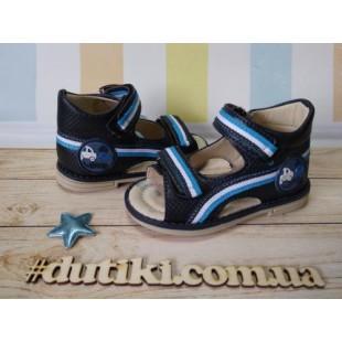 Босоножки для мальчиков с каблуком Томаса Арт: 1975С dark-blue