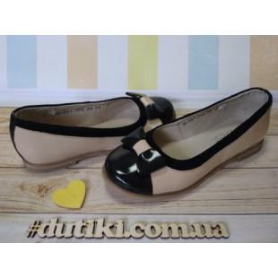 Кожаные туфли для девочек-школьниц Арт.: Ш-361