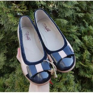 Кожаные туфли для девочек-школьниц Арт.: Ш-361-последняя пара 32!