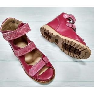 Ортопедические босоножки лечебной серии для девочек Арт: 6090 фуксия