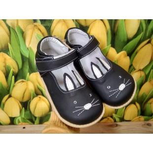 Кожаные туфли для девочек на супер гнущейся подошве Арт: Bunny