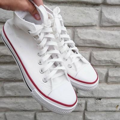 "Кеды высокие белые ""унисекс"", White sneakers"