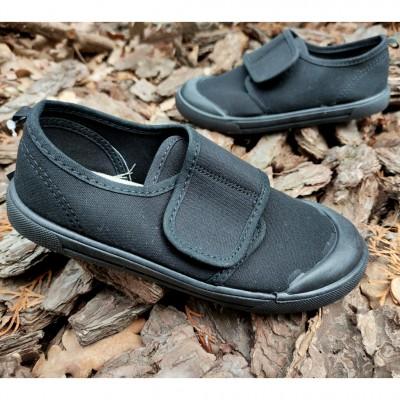 Чорні текстильні кеди, мокасини для хлопчиків School_black