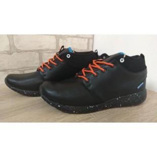 Зимние ботинки-кроссовки мужские/подростковые 16149 black orange