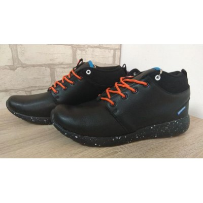 Зимние ботинки-кроссовки 16149 black orange