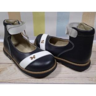 Ортопедические туфли для девочек Арт: 18 dark-blue