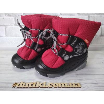 Зимние сапоги, дутики  SNOW RIDE c_красные