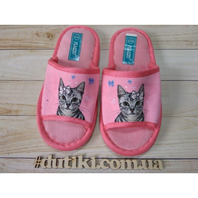 Мягкие тапочки для девочек, Кошечки_pink