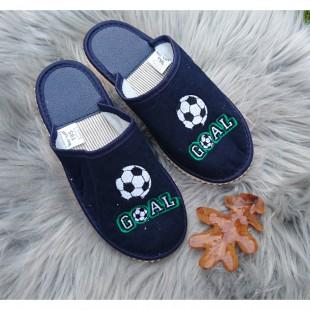"""Текстильные тапочки с закрытым носком Арт: """"Футбол"""""""