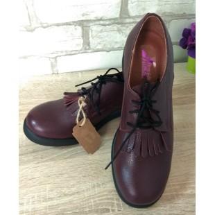 Женские кожаные туфли Арт.: 32-2 бордо - последняя пара!