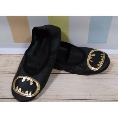 """Чешки черные кожаные """"Супергерой"""""""