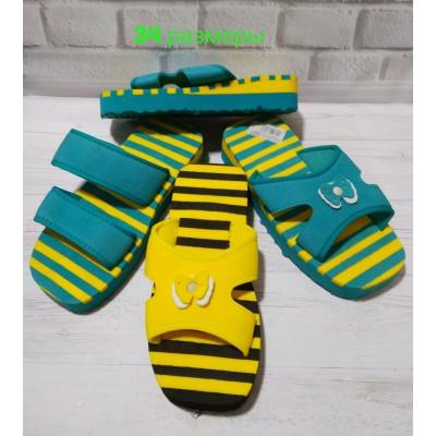 Сланцы для пляжа, шлепанцы 780 green-yellow