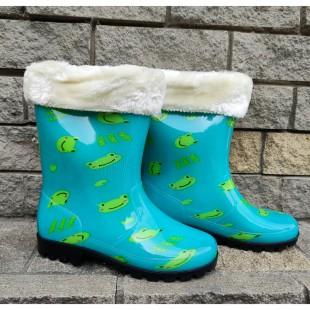 Дитячі гумові чоботи з утеплювачем  Арт: A63-500