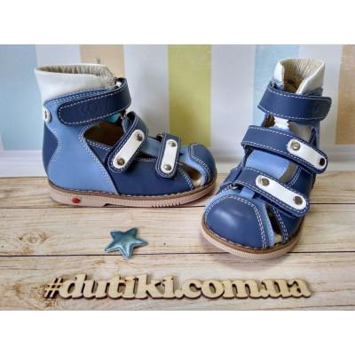 Ортопедические сандалии 006B сине-голубой