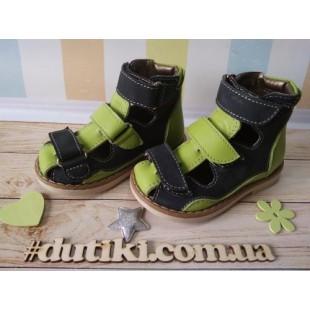 Ортопедические сандалии для мальчиков и девочек Арт.: 0219 blue-green