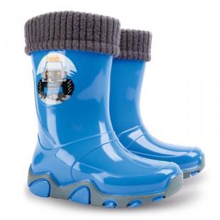 Дитячі гумові чоботи з утеплювачем STORMER LUX PRINT 0402A
