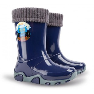 Дитячі гумові чоботи з утеплювачем STORMER LUX PRINT 0403D