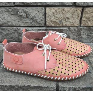 Летние туфли кожаные полностью Арт: 0507