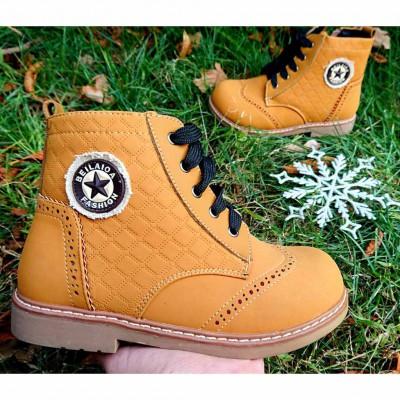 Зимние ботинки с каблуком Томаса,  100-532