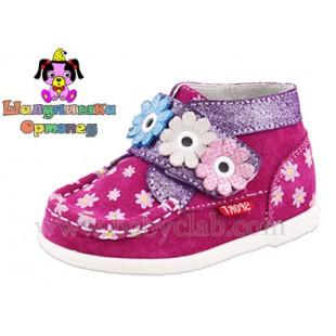 Ботинки для девочек из натурального замша Арт.:100-7