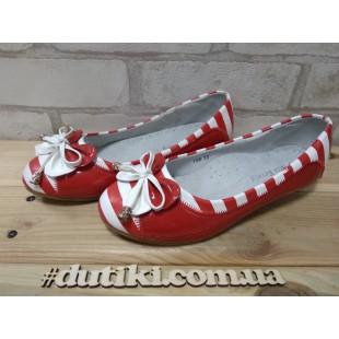 Туфли для девочек Арт: 106-22 red - последняя пара!