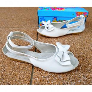 Белые босоножки для девочек Арт: 1181