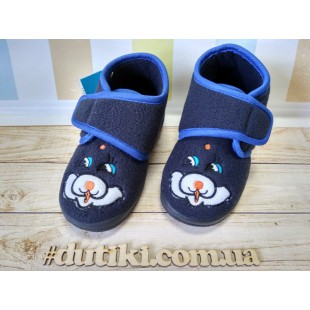 Теплые комнатные тапочки Арт: 16-9D blue