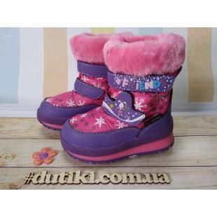 Зимние термо ботинки для девочек мембрана+ штом+термостелька Арт: R161-3207