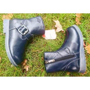 Зимние ботинки из натуральной кожи c каблуком Томаса Арт: 4051-71