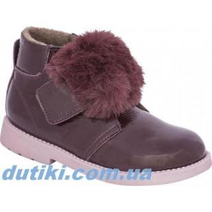 Ортопедические ботинки для девочек Арт: 17-1505 bordo