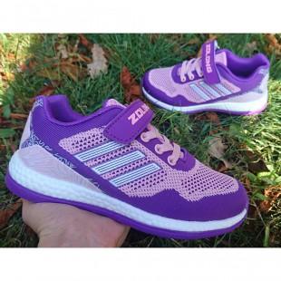 Яркие текстильные кроссовки Арт: 9071 fiolet