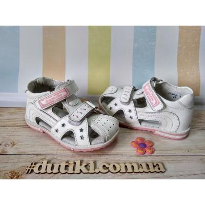 Сандалии кожаные для девочек 2002-1B