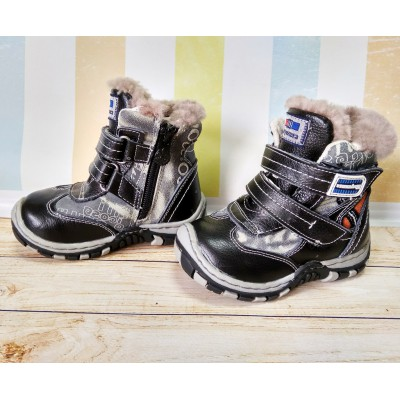 Зимние ботинки из натуральной кожи и меха Шалунишка, 7322