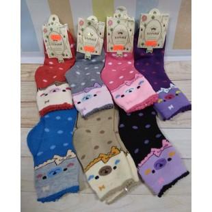 Махровые теплые носки для девочек Корона 26-31 бамбук Арт: С3209