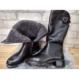 Зимние кожаные сапоги 36 размер - 23,5 см